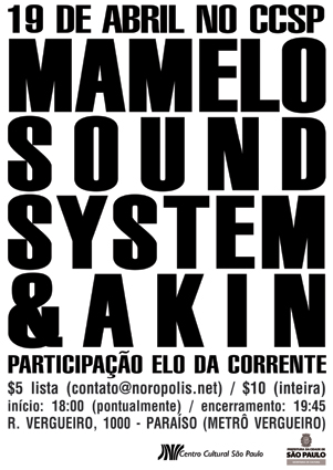 Mamelo Sound System & Akin no CCSP