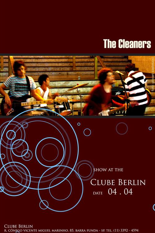 The Cleaners no Berlin dia 4 de abril. Flyer: Fernando Lima