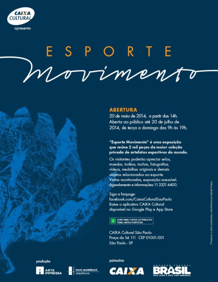 EXPOSIÇÃO 'ESPORTE MOVIMENTO' NA CAIXA CULTURAL