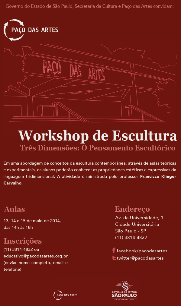 WORKSHOP DE ESCULTURA GRATUITO