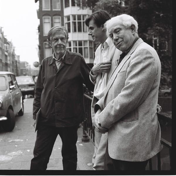 John Cage, Frank Scheffer, Elliott Carter A'dam june 1988 bx